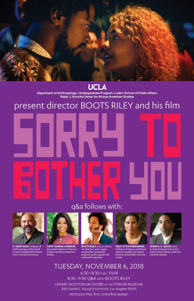Sorry To Bother You Screening Followed by Q & A with